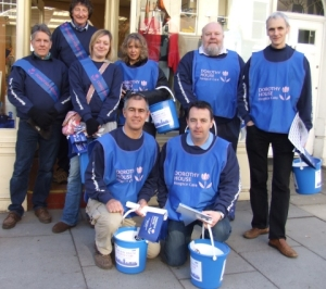 From left to right, top row:  Roger Davies, Willie Sturges, Jennie Wood, Nicky Miller, Richard Hill, John Jolly; bottom row:  Bruce Roxburgh, Bob Dunn.