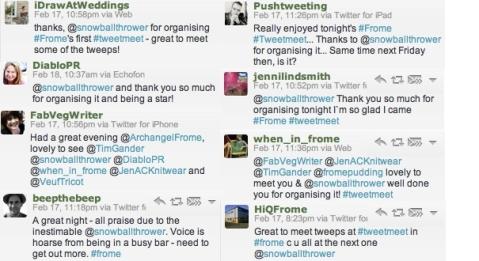 Success! Frome's first #tweetmeet