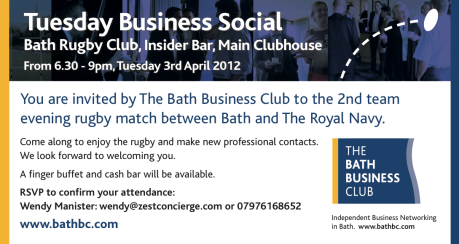Networking evening hosted by Bath Business Club members